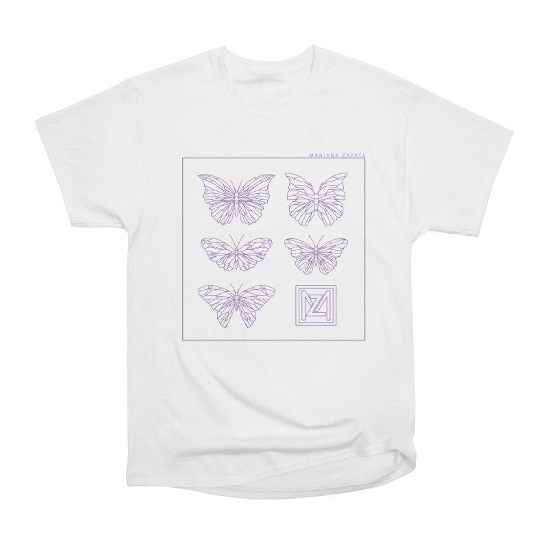MZ Butterflies 2 Women's Heavyweight Unisex T-Shirt by M A R I A N A    Z A P A T A