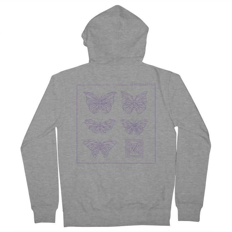 MZ Butterflies 2 Men's French Terry Zip-Up Hoody by M A R I A N A    Z A P A T A