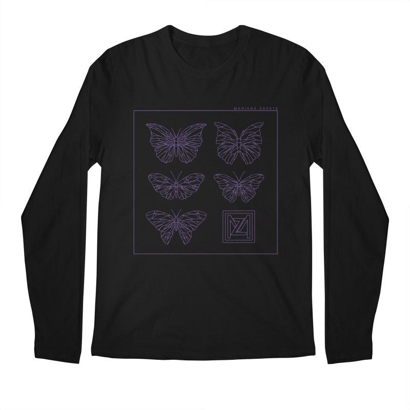 MZ Butterflies 2 Men's Regular Longsleeve T-Shirt by M A R I A N A    Z A P A T A