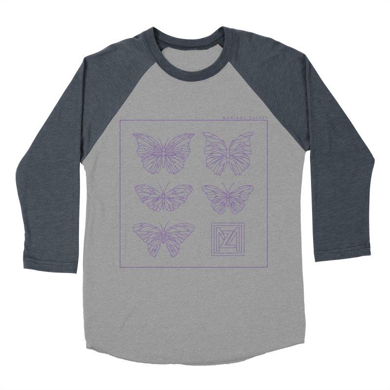 MZ Butterflies 2 Women's Baseball Triblend Longsleeve T-Shirt by M A R I A N A    Z A P A T A