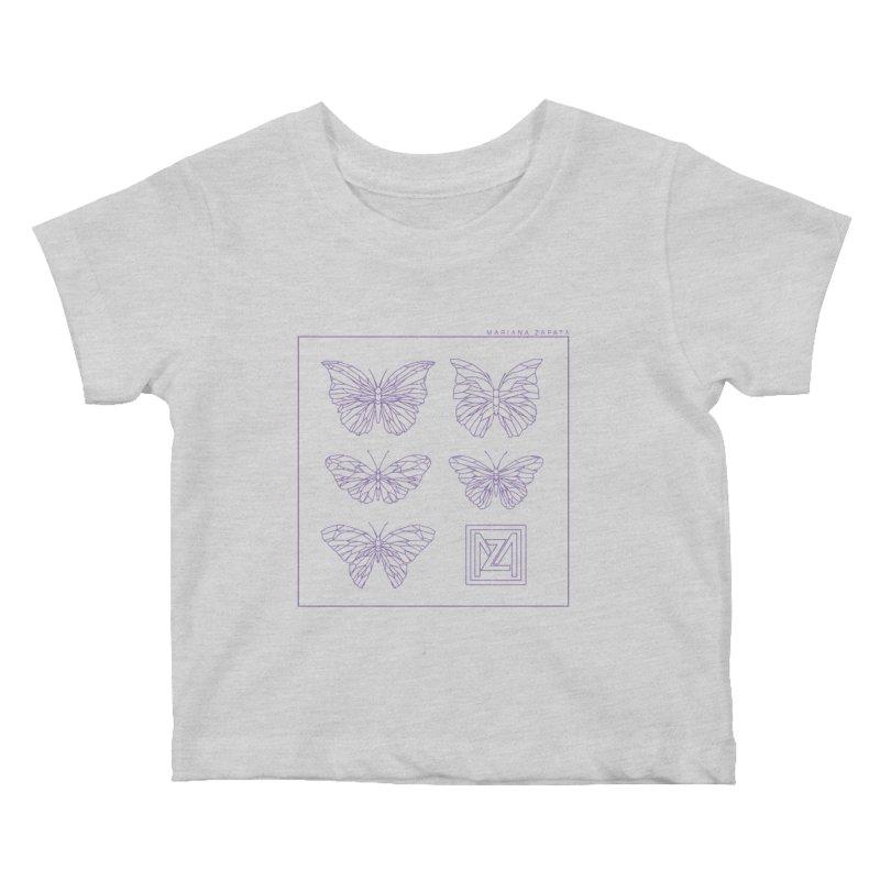 MZ Butterflies 2 Kids Baby T-Shirt by M A R I A N A    Z A P A T A