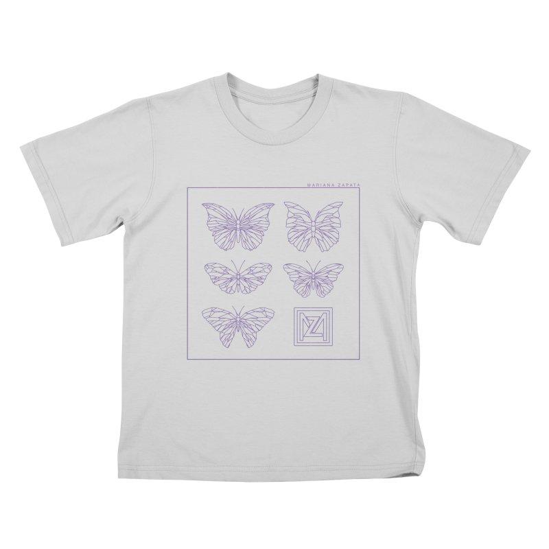MZ Butterflies 2 Kids T-Shirt by M A R I A N A    Z A P A T A