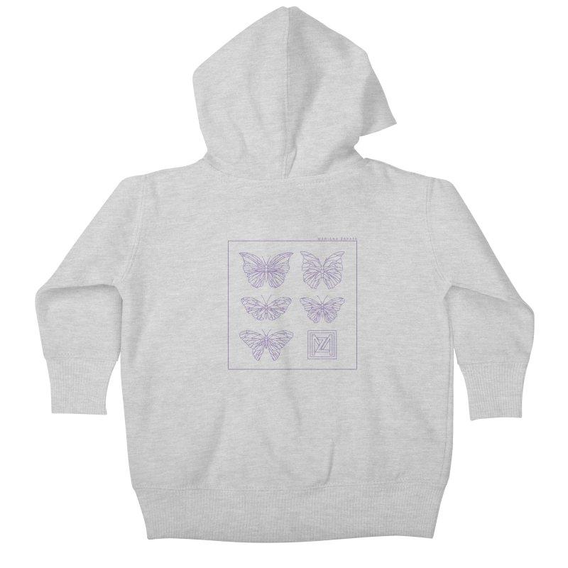 MZ Butterflies 2 Kids Baby Zip-Up Hoody by M A R I A N A    Z A P A T A