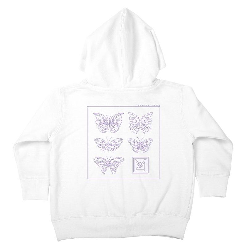 MZ Butterflies 2 Kids Toddler Zip-Up Hoody by M A R I A N A    Z A P A T A