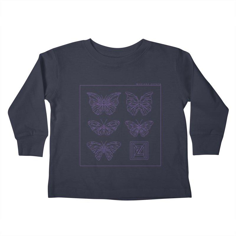MZ Butterflies 2 Kids Toddler Longsleeve T-Shirt by M A R I A N A    Z A P A T A