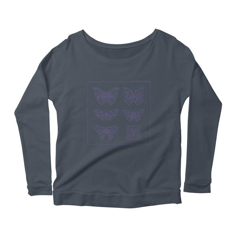 MZ Butterflies 2 Women's Scoop Neck Longsleeve T-Shirt by M A R I A N A    Z A P A T A