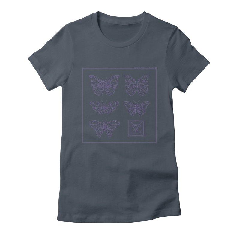 MZ Butterflies 2 Women's T-Shirt by M A R I A N A    Z A P A T A