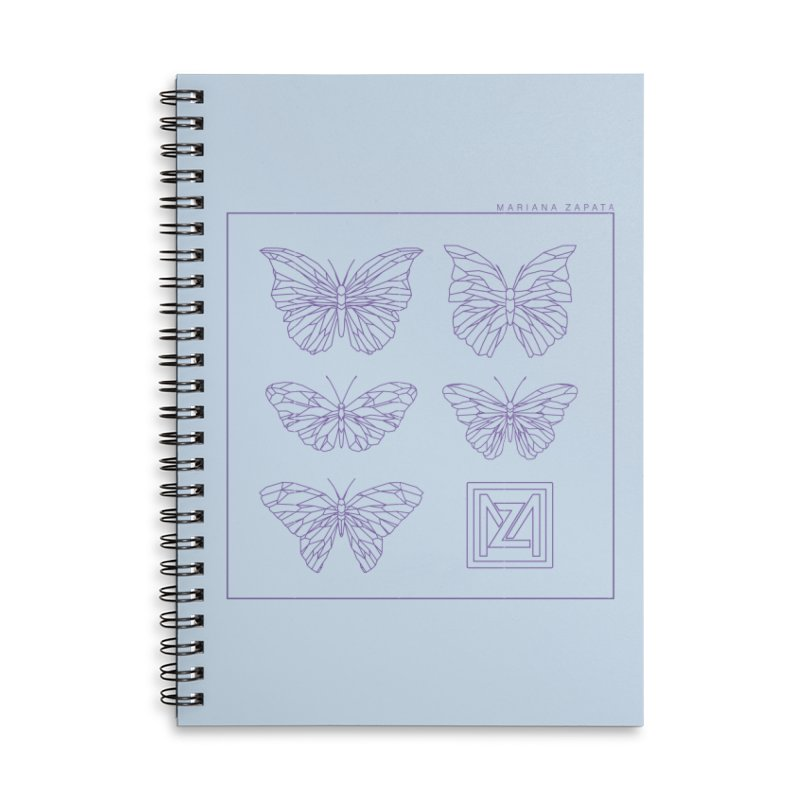 MZ Butterflies 2 Accessories Lined Spiral Notebook by M A R I A N A    Z A P A T A