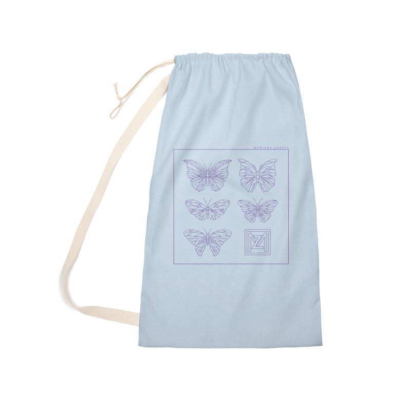 MZ Butterflies 2 Accessories Laundry Bag Bag by M A R I A N A    Z A P A T A