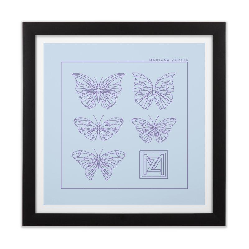 MZ Butterflies 2 Home Framed Fine Art Print by M A R I A N A    Z A P A T A