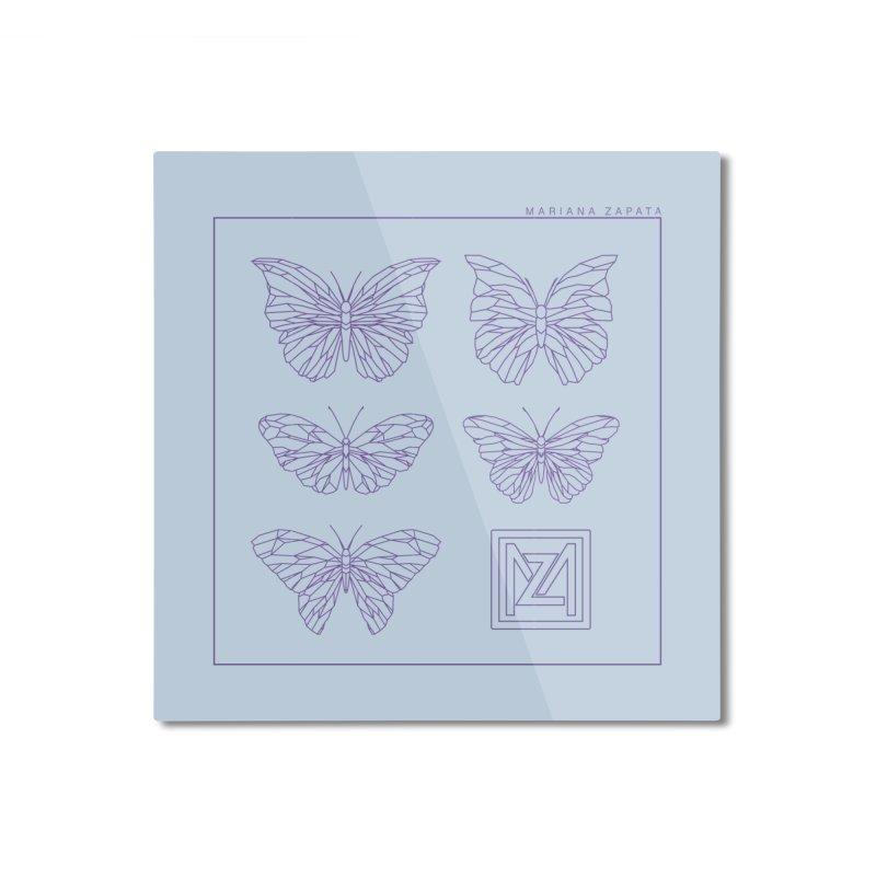 MZ Butterflies 2 Home Mounted Aluminum Print by M A R I A N A    Z A P A T A