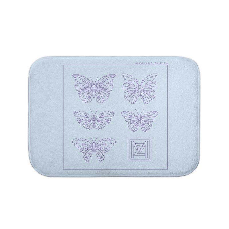 MZ Butterflies 2 Home Bath Mat by M A R I A N A    Z A P A T A