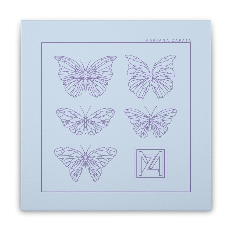 MZ Butterflies 2 Home Stretched Canvas by M A R I A N A    Z A P A T A
