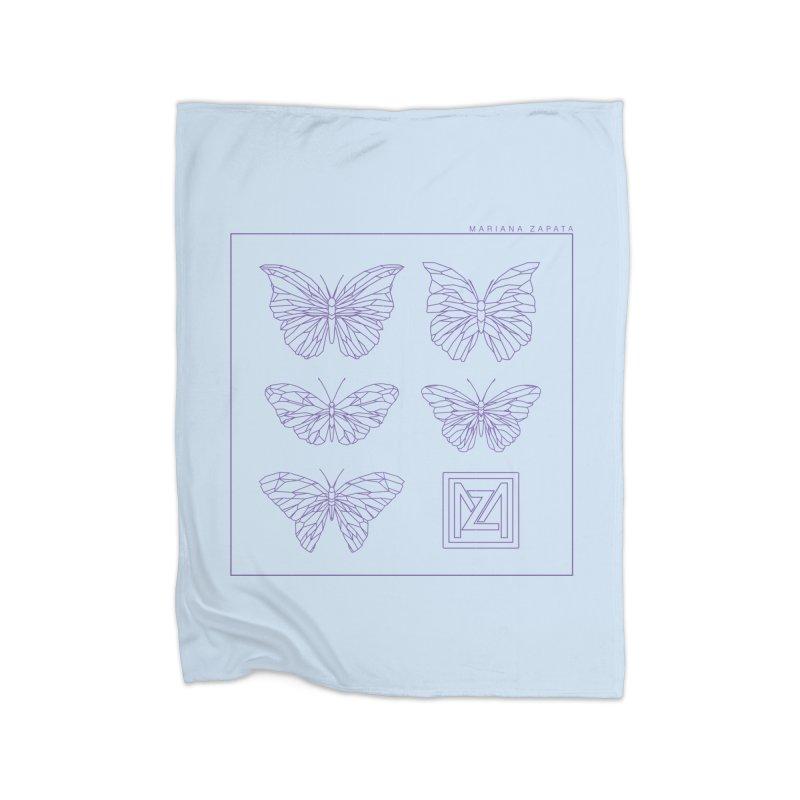 MZ Butterflies 2 Home Fleece Blanket Blanket by M A R I A N A    Z A P A T A
