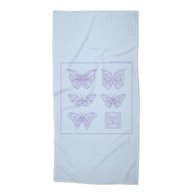 MZ Butterflies 2 Accessories Beach Towel by M A R I A N A    Z A P A T A