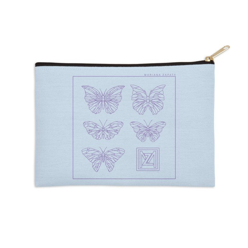 MZ Butterflies 2 Accessories Zip Pouch by M A R I A N A    Z A P A T A
