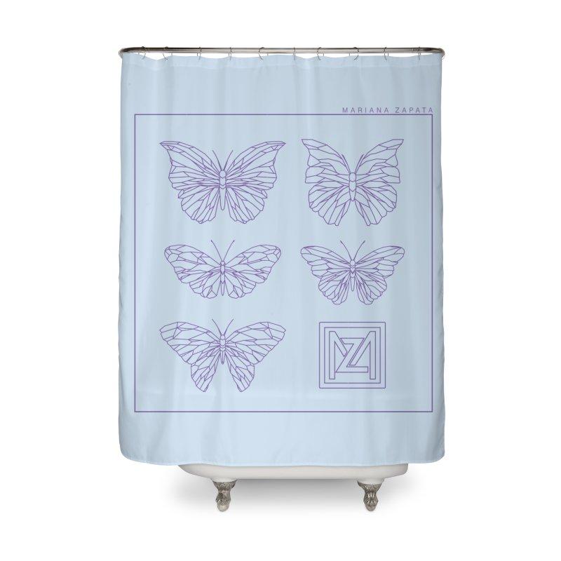 MZ Butterflies 2 Home Shower Curtain by M A R I A N A    Z A P A T A