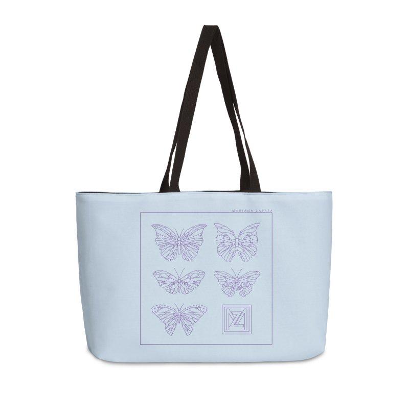MZ Butterflies 2 Accessories Weekender Bag Bag by M A R I A N A    Z A P A T A
