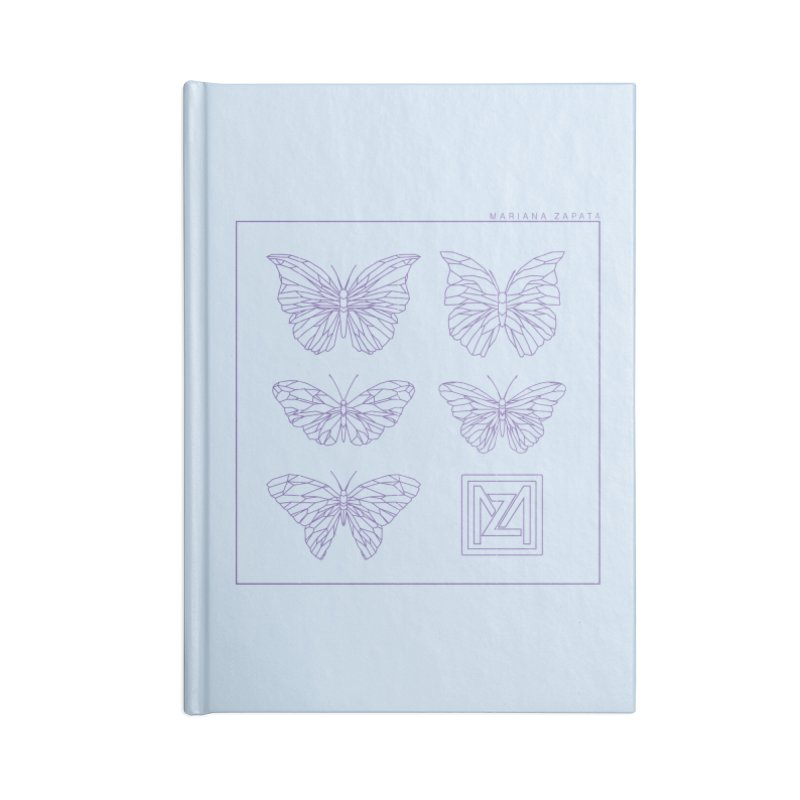 MZ Butterflies 2 Accessories Lined Journal Notebook by M A R I A N A    Z A P A T A