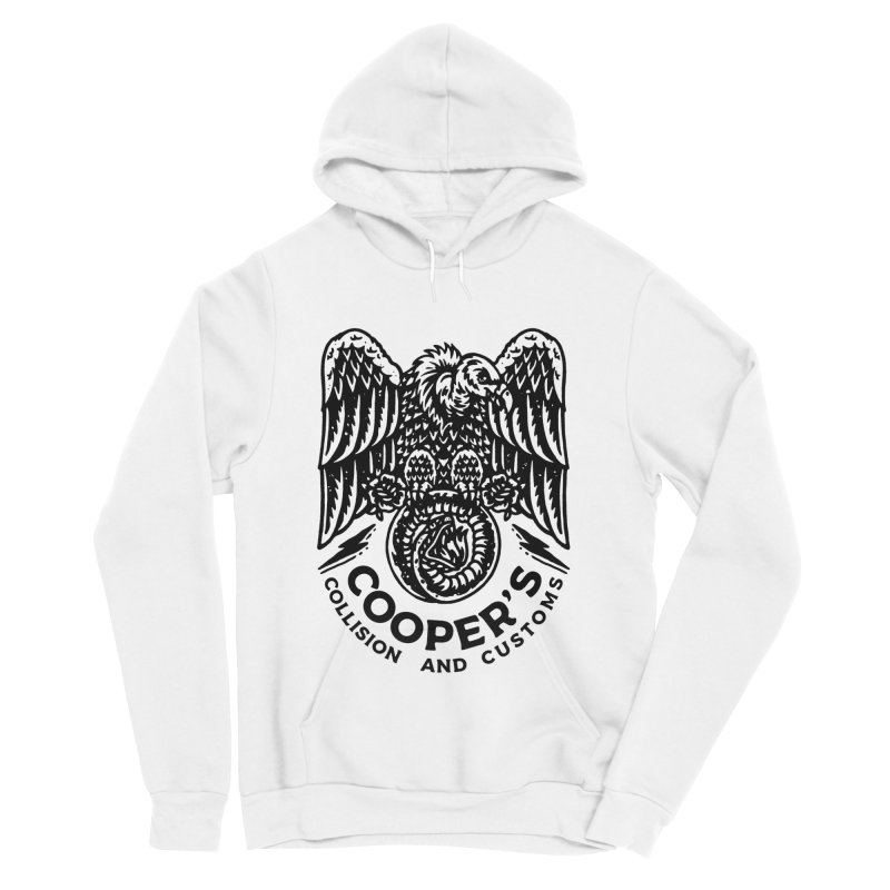 Cooper's Collision & Customs (Luna and the Lie) Women's Sponge Fleece Pullover Hoody by M A R I A N A    Z A P A T A