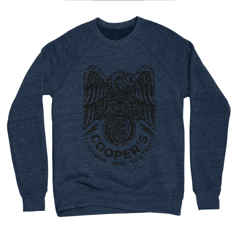 Cooper's Collision & Customs (Luna and the Lie) Men's Sponge Fleece Sweatshirt by M A R I A N A    Z A P A T A