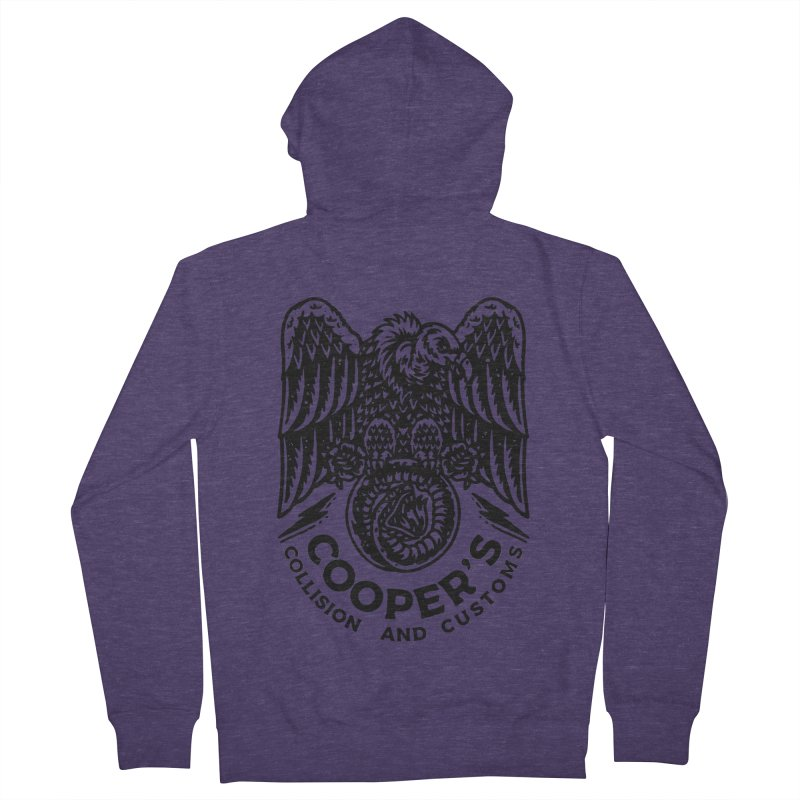 Cooper's Collision & Customs (Luna and the Lie) Men's French Terry Zip-Up Hoody by M A R I A N A    Z A P A T A