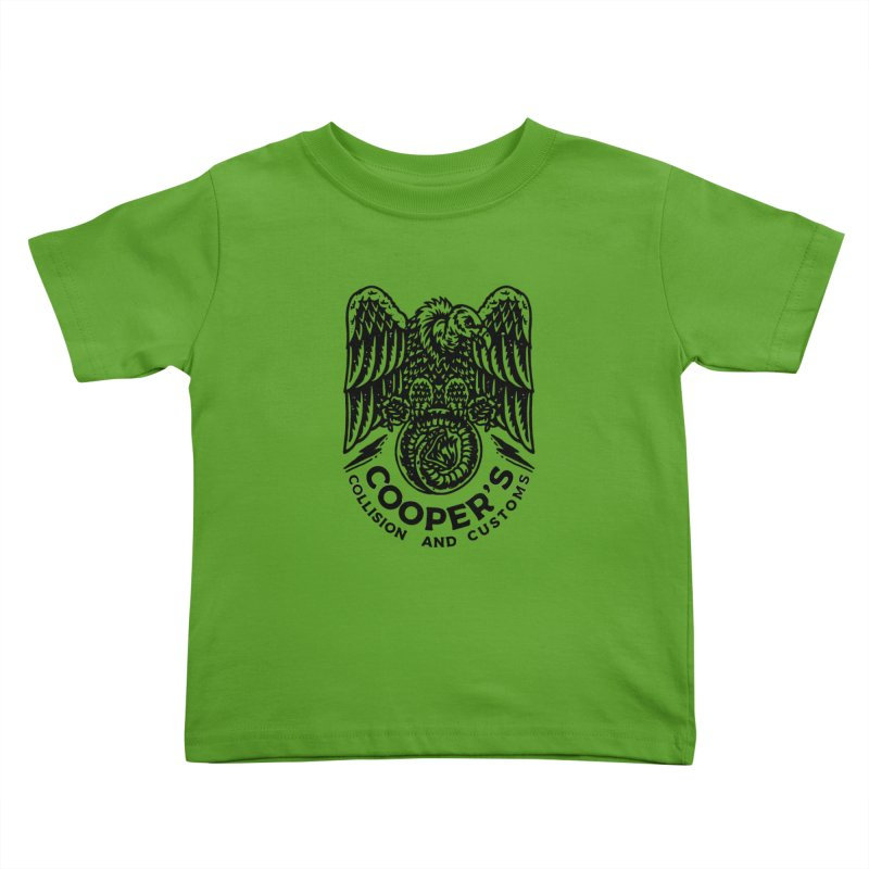 Cooper's Collision & Customs (Luna and the Lie) Kids Toddler T-Shirt by M A R I A N A    Z A P A T A