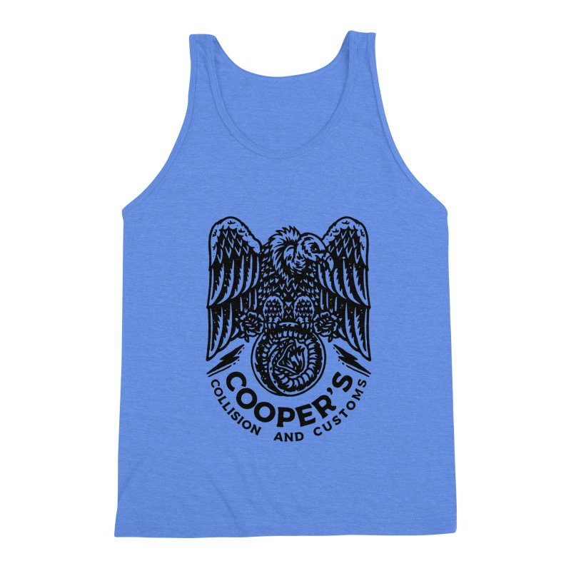 Cooper's Collision & Customs (Luna and the Lie) Men's Triblend Tank by M A R I A N A    Z A P A T A