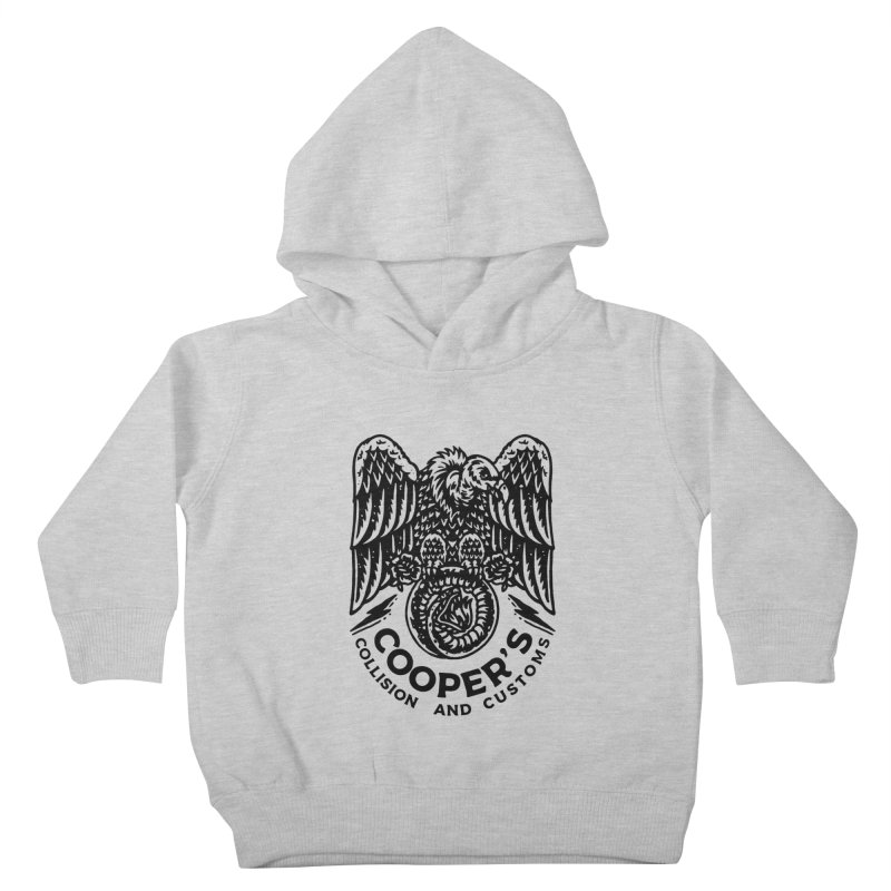 Cooper's Collision & Customs (Luna and the Lie) Kids Toddler Pullover Hoody by M A R I A N A    Z A P A T A