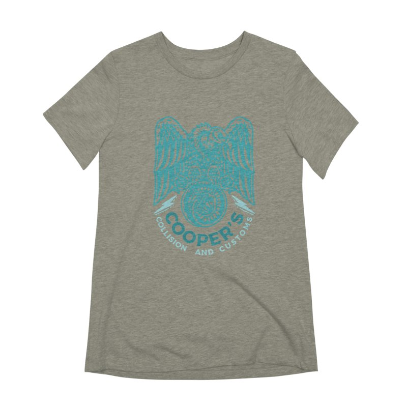 Cooper's Collision & Customs (Luna and the Lie) Women's Extra Soft T-Shirt by M A R I A N A    Z A P A T A