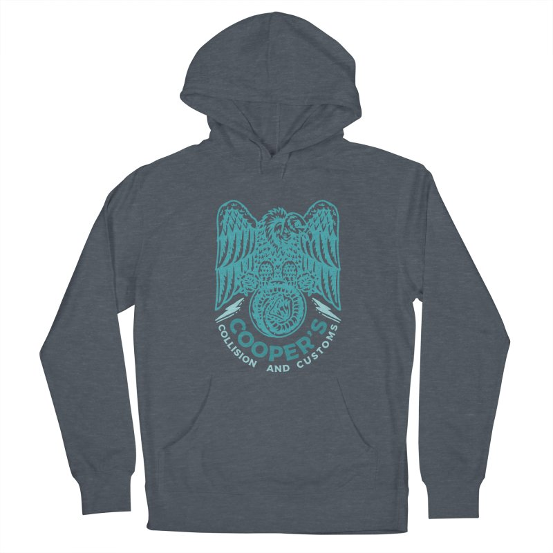 Cooper's Collision & Customs (Luna and the Lie) Men's French Terry Pullover Hoody by M A R I A N A    Z A P A T A