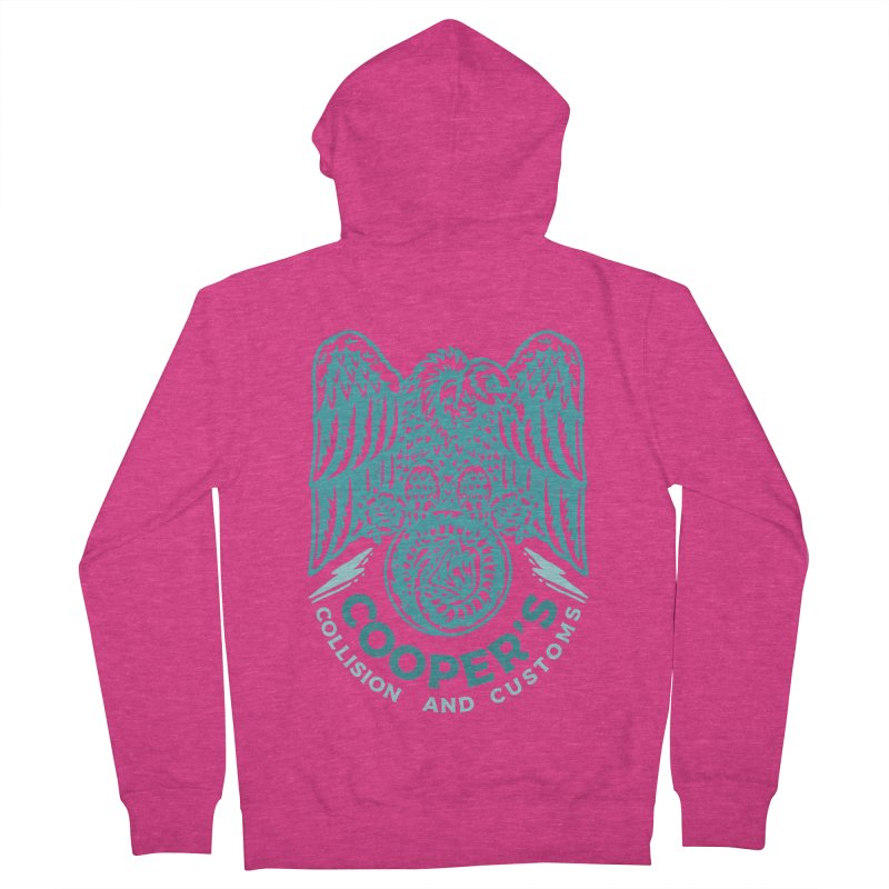 Cooper's Collision & Customs (Luna and the Lie) Women's French Terry Zip-Up Hoody by M A R I A N A    Z A P A T A