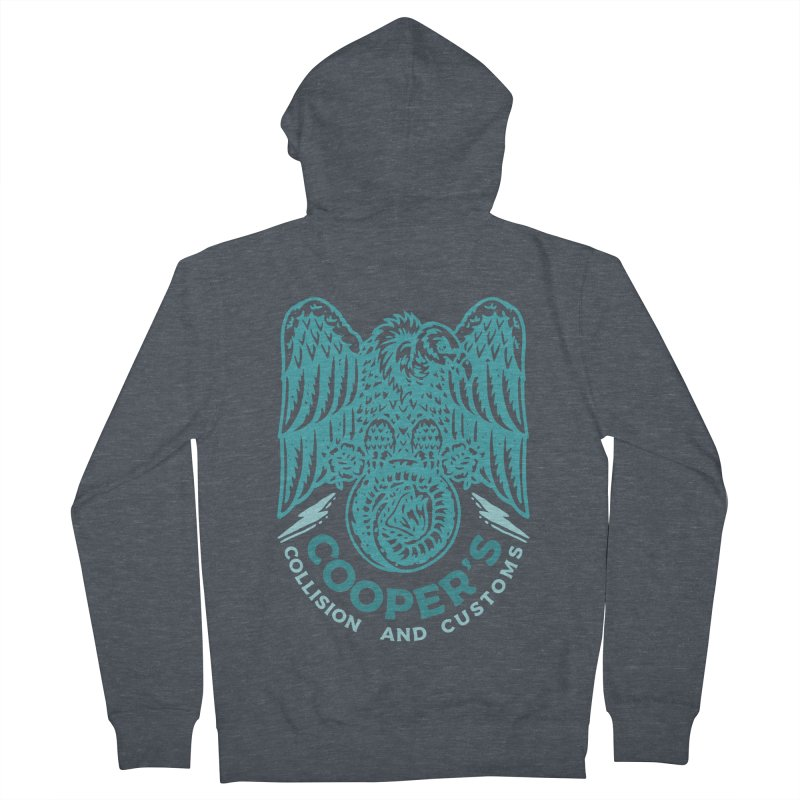 Cooper's Collision & Customs (Luna and the Lie) Men's French Terry Zip-Up Hoody by M A R I A N A    Z A P A T A
