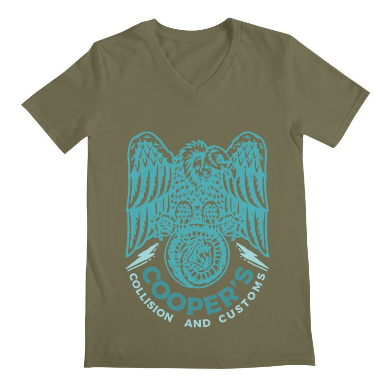 Cooper's Collision & Customs (Luna and the Lie) Men's Regular V-Neck by M A R I A N A    Z A P A T A