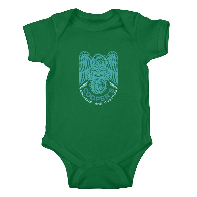 Cooper's Collision & Customs (Luna and the Lie) Kids Baby Bodysuit by M A R I A N A    Z A P A T A