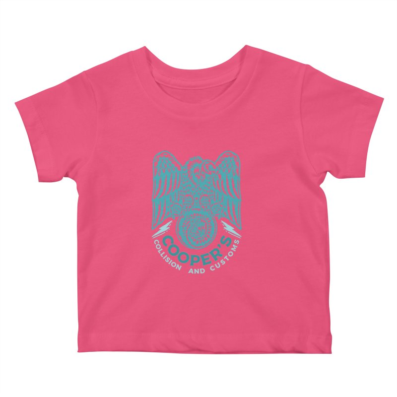 Cooper's Collision & Customs (Luna and the Lie) Kids Baby T-Shirt by M A R I A N A    Z A P A T A
