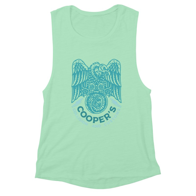 Cooper's Collision & Customs (Luna and the Lie) Women's Muscle Tank by M A R I A N A    Z A P A T A