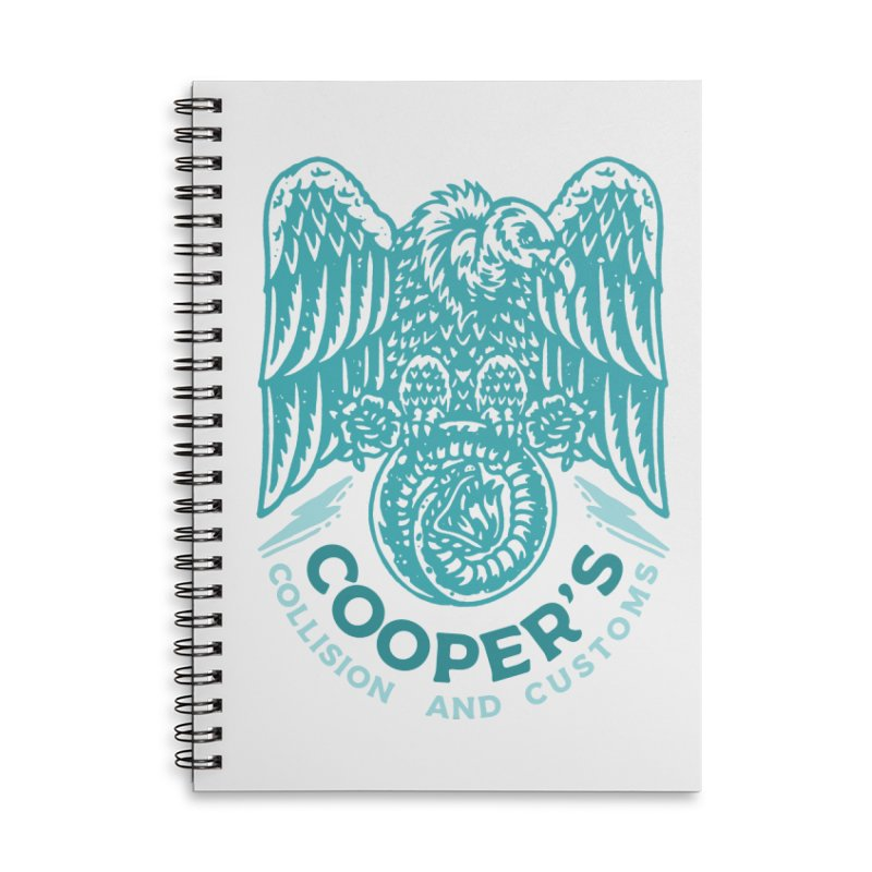 Cooper's Collision & Customs (Luna and the Lie) Accessories Lined Spiral Notebook by M A R I A N A    Z A P A T A