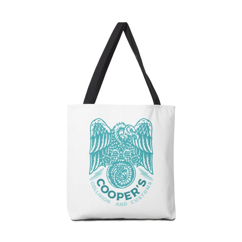Cooper's Collision & Customs (Luna and the Lie) Accessories Tote Bag Bag by M A R I A N A    Z A P A T A