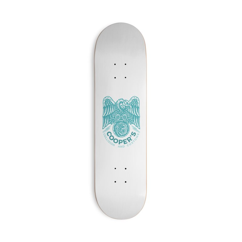 Cooper's Collision & Customs (Luna and the Lie) Accessories Deck Only Skateboard by M A R I A N A    Z A P A T A