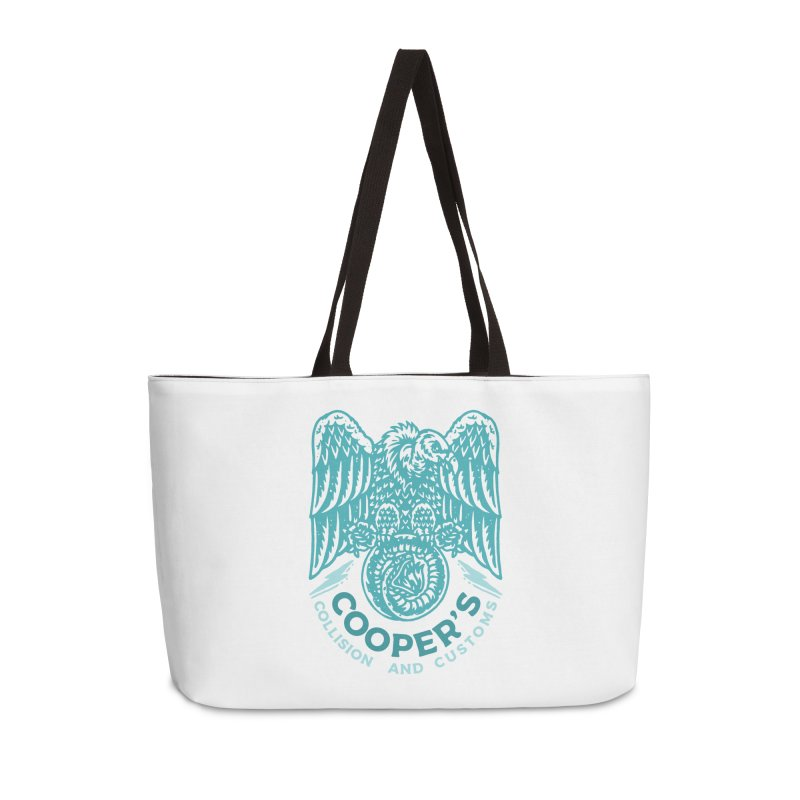 Cooper's Collision & Customs (Luna and the Lie) Accessories Weekender Bag Bag by M A R I A N A    Z A P A T A