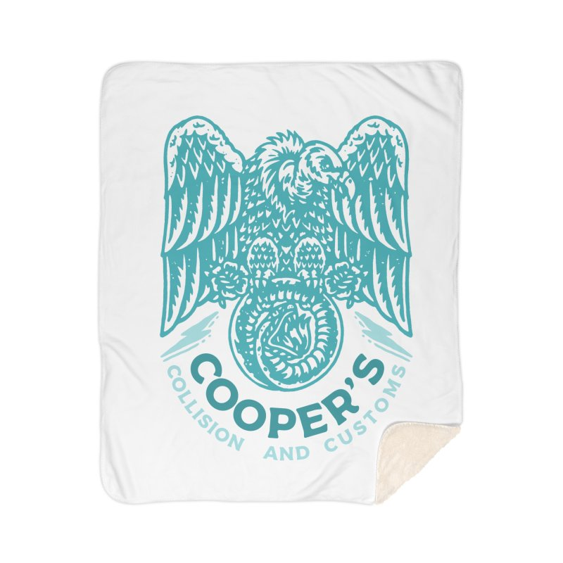 Cooper's Collision & Customs (Luna and the Lie) Home Sherpa Blanket Blanket by M A R I A N A    Z A P A T A
