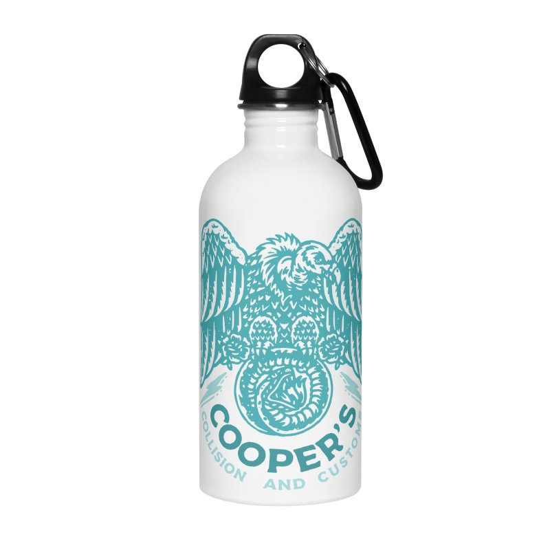 Cooper's Collision & Customs (Luna and the Lie) Accessories Water Bottle by M A R I A N A    Z A P A T A