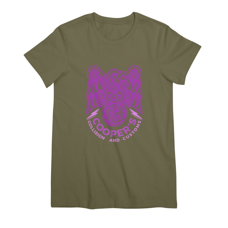 Cooper's Collision & Customs (Luna and the Lie) Women's Premium T-Shirt by M A R I A N A    Z A P A T A