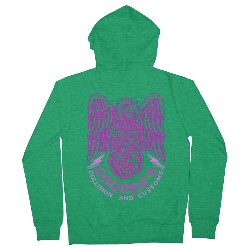 Cooper's Collision & Customs (Luna and the Lie) Men's Zip-Up Hoody by M A R I A N A    Z A P A T A