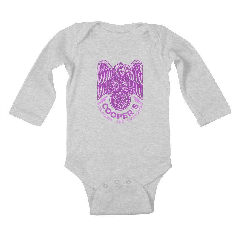 Cooper's Collision & Customs (Luna and the Lie) Kids Baby Longsleeve Bodysuit by M A R I A N A    Z A P A T A
