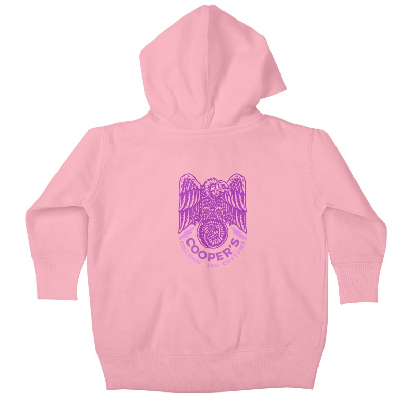 Cooper's Collision & Customs (Luna and the Lie) Kids Baby Zip-Up Hoody by M A R I A N A    Z A P A T A