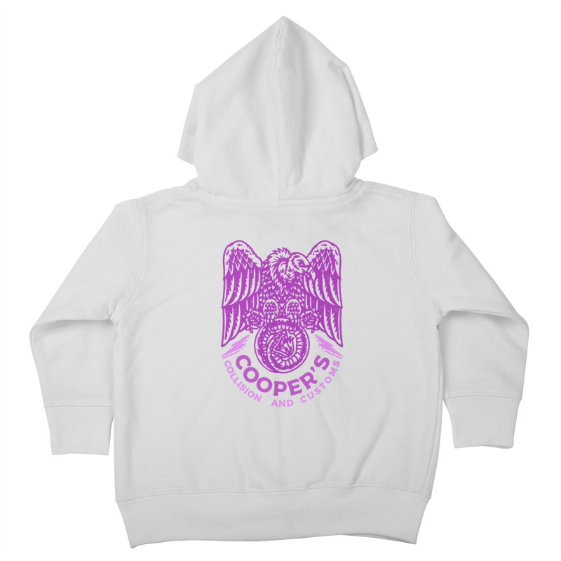 Cooper's Collision & Customs (Luna and the Lie) Kids Toddler Zip-Up Hoody by M A R I A N A    Z A P A T A