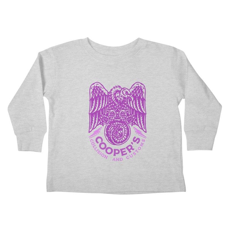 Cooper's Collision & Customs (Luna and the Lie) Kids Toddler Longsleeve T-Shirt by M A R I A N A    Z A P A T A