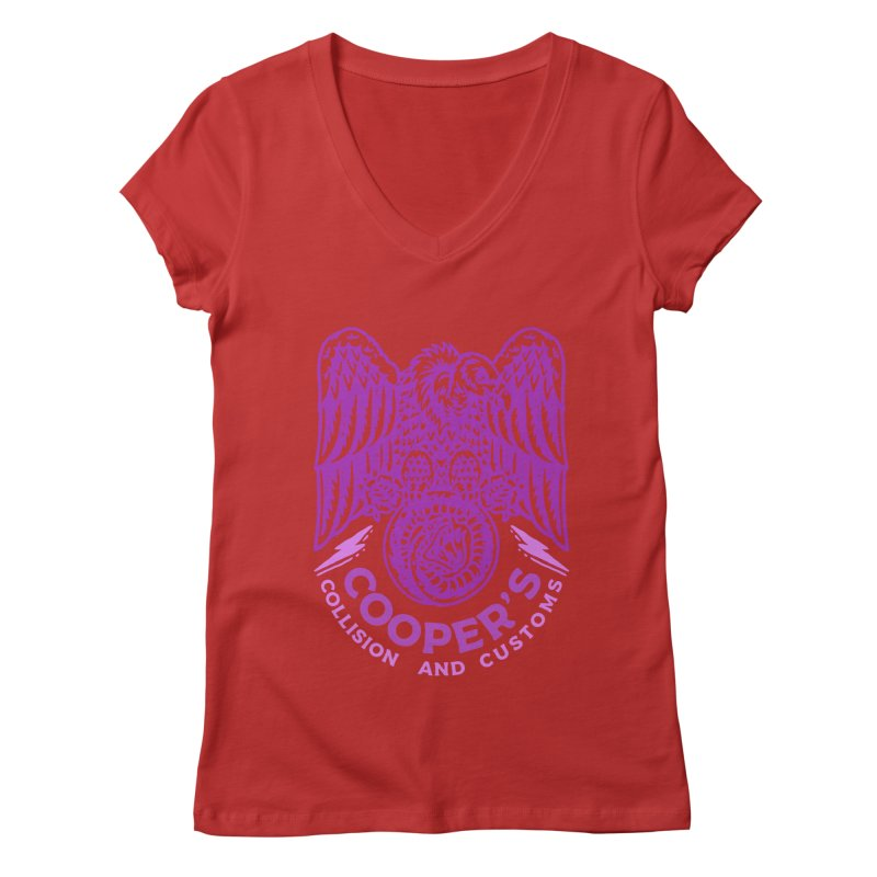 Cooper's Collision & Customs (Luna and the Lie) Women's Regular V-Neck by M A R I A N A    Z A P A T A